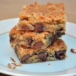 Milk Chocolate and Coconut Blondies