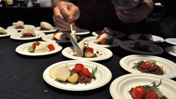 Plating at the Omnivorious party