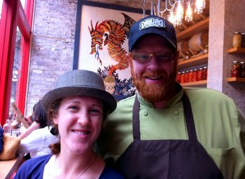 Dragon Ranch, Nicole and Chef Red Hauge