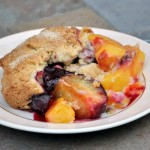 Plum and Peach Cobbler