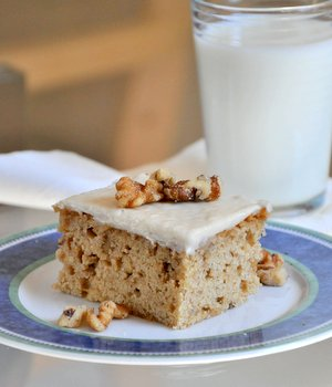 Banana Snack Cake With Brown Butter Frosting