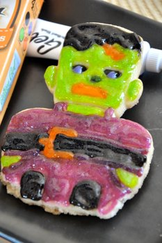 Glitter Frankenstein Cookie