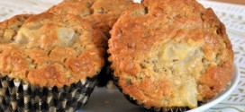 Ginger and Pear Oatmeal Muffins