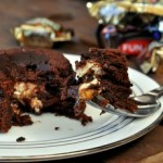 Snickers Halloween Candy Lava Cakes