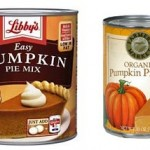 Pumpkin pie fillings in cans