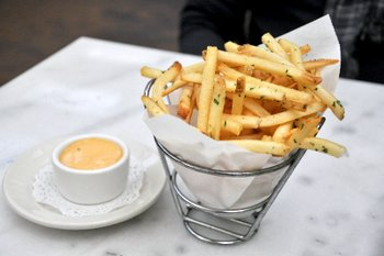 Fries at Bistro Jeanty