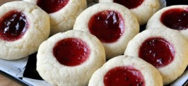 Lime and Cranberry Thumbprint Cookies