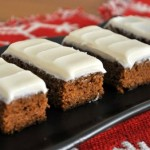Brown Butter Gingerbread Cake Bars