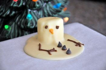 Baking Bites' Melted Snowman Chocolate