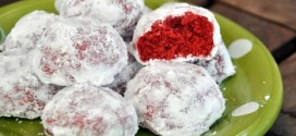 Red Velvet Snowball Cookies
