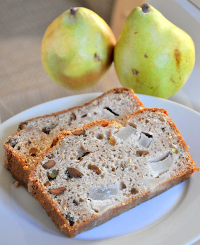 Chai-Spiced Pear Bread with Pistachios