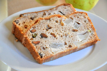 Chai Spice Pear Bread with Pistachios