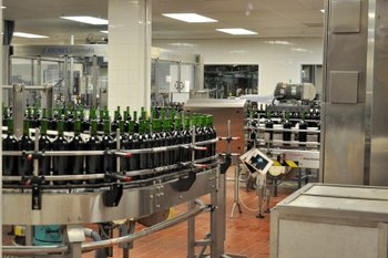 Wines being bottled