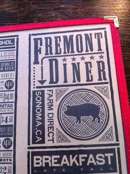 Fremont Diner Menu