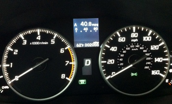 Acura ILX average mileage