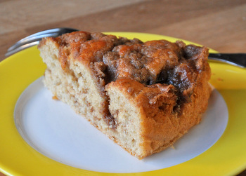 Banana Cinnamon Bun Coffee Cake
