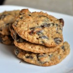 Whole Wheat Chocolate Chip Cookies with Dried Cranberries