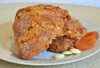 Dried Apricot, Ginger and White Chocolate Scones