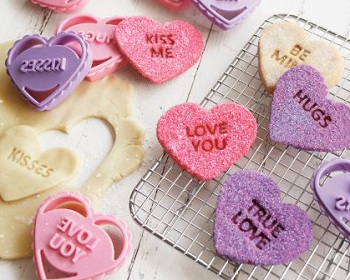 Chicago Metallic Conversation-Heart Cookie Cutters