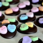 Conversation Heart Mendiants for Valentines