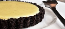 White Chocolate Vanilla Bean Tart with Chocolate Crust
