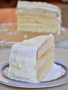 Vanilla and Lemon Layer Cake