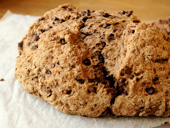 Chocolate Chocolate Chip Irish Soda Bread