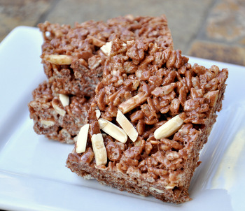 Chocolate, Almond and Sea Salt Krispy Treats