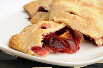 Plum Hand Pies, up close