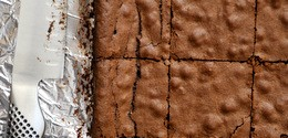 Bourbon Brownies with Sea Salt