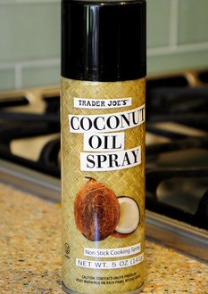 trader joe s coconut oil spray reviewed baking bites. Black Bedroom Furniture Sets. Home Design Ideas