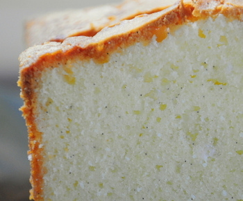 Vanilla Bean Pound Cake close up