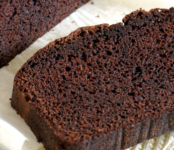 Chocolate Pound Cake close up