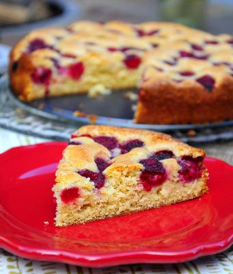 Fresh Raspberry Cake