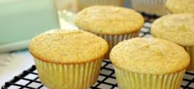 Lemon Cardamom Cornmeal Muffins