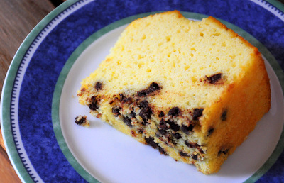 Chocolate Chips on Bottom of Cake
