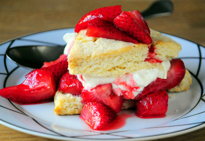Roasted Strawberry Shortcake