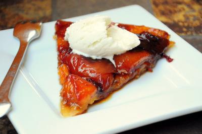 Peach Tarte Tatin slice