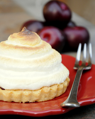 Plum Meringue Tart