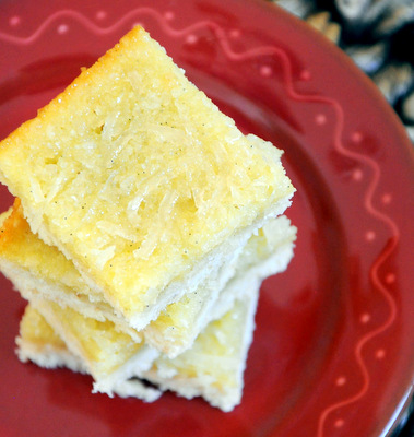 Coconut Topped Shortbread Bars
