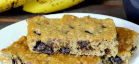 Banana Oatmeal Chocolate Chip Breakfast Bars