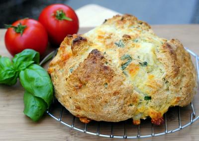 Mozzarella and Basil Bread - Baking Bites