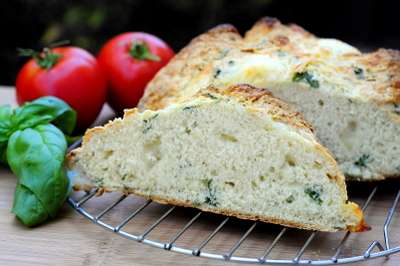 Mozzarella and Basil Bread