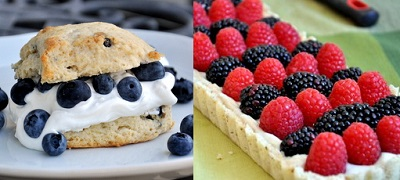 Naturally Colorful Desserts for the 4th of July