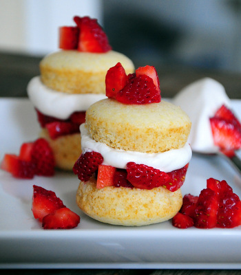 Bite Size Strawberry Shortcakes