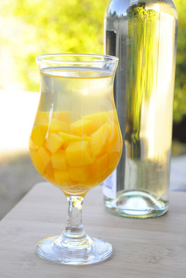 Mango and Peach White Wine Sangria