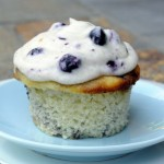 Blueberry Swirl Cupcake