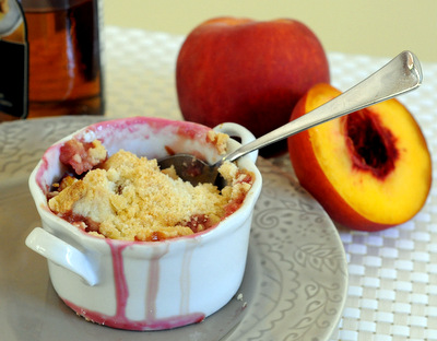 Peach and Honey Crumble