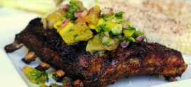 Cumin Glazed Grilled Ribs with Tequila Pineapple Salsa