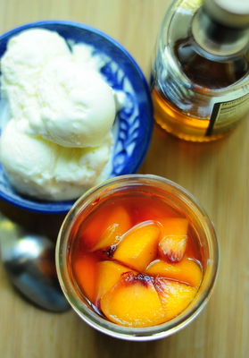 Balsamic Macerated Peaches